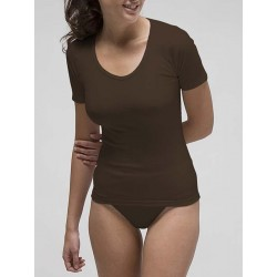 Basic women´s short sleeve t-shirt in spandex cotton.