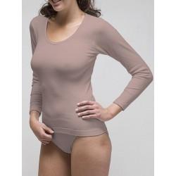 Camiseta manga larga para mujer 96% algodón 4% elastano. (ref. 2209)