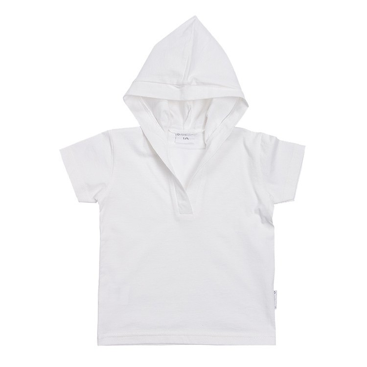 Unisex short sleeve hooded t-shirt.