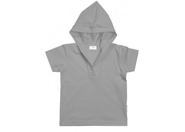 Camiseta con capucha unisex de manga corta.