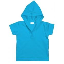 Unisex short sleeve hooded t-shirt.