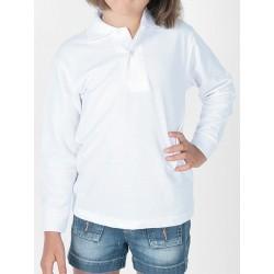 Polo infantil manga larga de algodón.