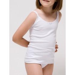 Camiseta tirante fino para niña Algodón-elastano. (Ref:2305)