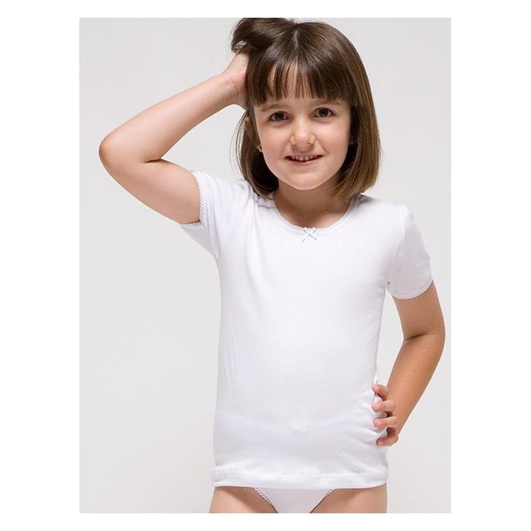 Camiseta manga corta para niña de Algodón-elastano. (Ref:2308)