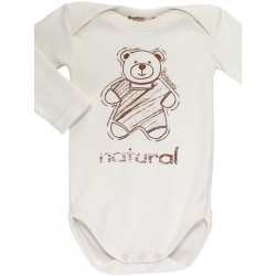 Newborn´s one-piece with pinned collar in organic cotton.