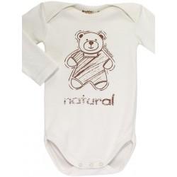 Body cuello americano de algodón orgánico para recién nacido.