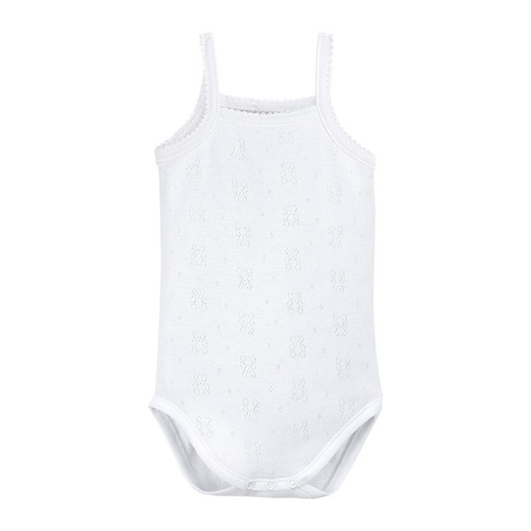 Baby body openwork with straps.