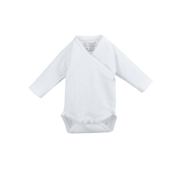 Body cruzado manga larga neonato 100% algodón.