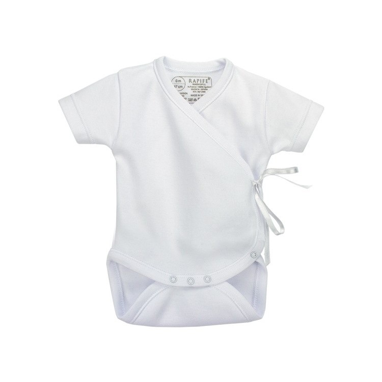 Short sleeve 100% Cotton Cross-Over Bodysuit (ref: 841)