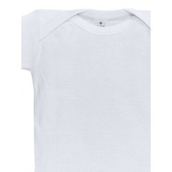 Body bebé cuello americano manga corta 100% algodón.
