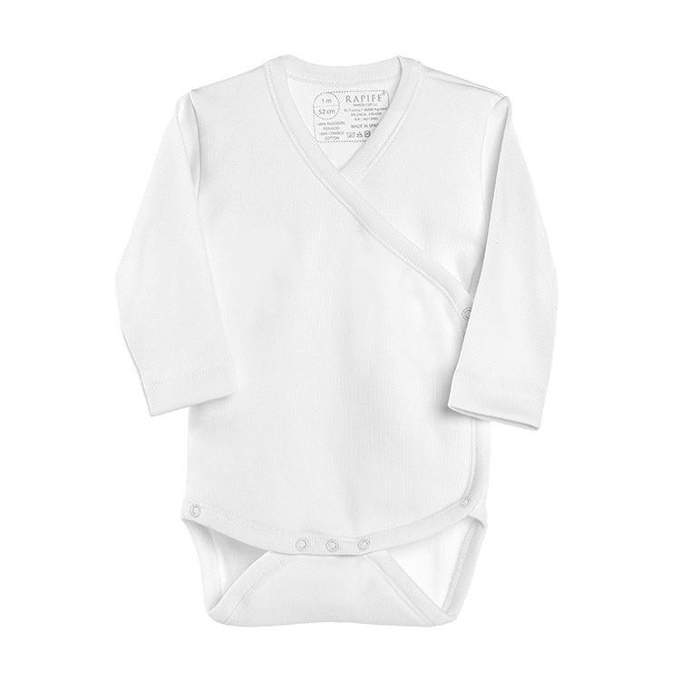 Body cruzado TERMAL manga larga de interlock felpado 100% algodón. (ref. 856)  BLANCO, ROSA y/o CELESTE.