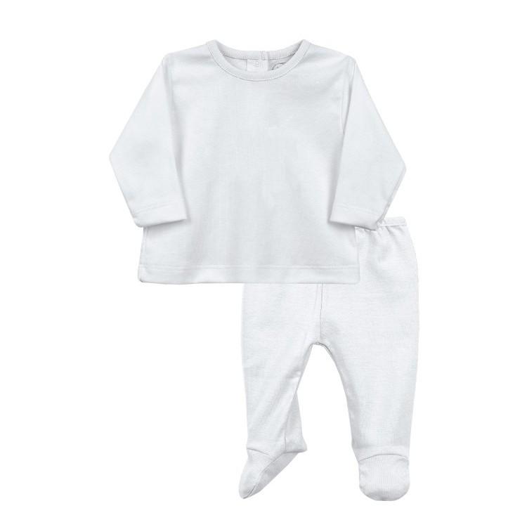 Conjunto polaina y camiseta blanca 100% algodón.