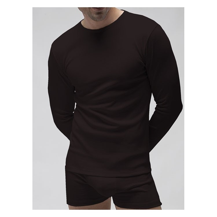 Pack 3 Uds. Camiseta interior hombre manga larga 96% algodón-4% elastano.